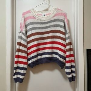John + Jenn Striped Cotton Sweater